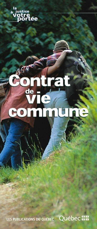 Contrat de vie commune  | 9782551195732 | Documents officiels des Publications du Québec