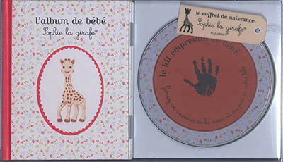 Coffret Album De Bebe Sophie La Girafe Et Empreinte De