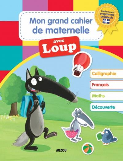 Grand cahier maternelle loup | 9782733849842 | Cahier d'exercices