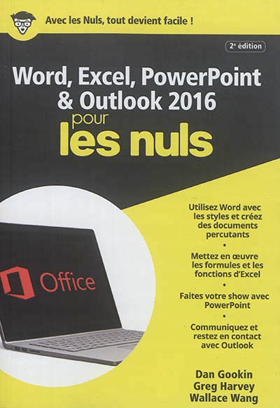 Word, Excel, PowerPoint & Outlook 2016 pour les nuls | 9782412029053 | Informatique