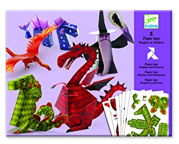 5 Paper Toys- Dragons et Chimères | Construction