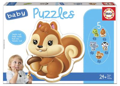 5 Casse-Tête - Baby Puzzles - Animaux  | Casse-têtes