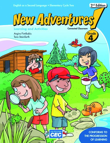 New Adventures - Learning and Activities Book - 4e année - 2e édition | 9782761782104 | Cahier d'apprentissage - 4e année