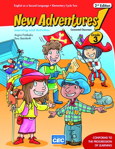 New Adventures - Learning and Activities Book - 3e année - 2e édition | 9782761782081 | Cahier d'apprentissage - 3e année