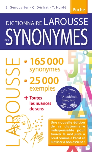 Dictionnaire des synonymes | 9782035950444 | Dictionnaires