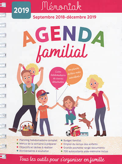 Temps Course Calendrier 2019.Agenda Familial 2018 2019 9782377610471 Agenda Et