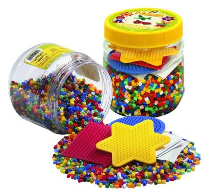 Hama- 4000 Mini Billes & Plateaux en Pot (Mini Beads & Pegboards in Tub) | Hama