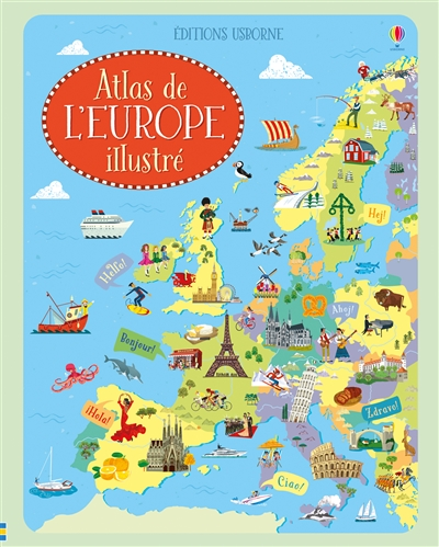 Atlas de l'Europe illustré | 9781474955256 | Documentaires