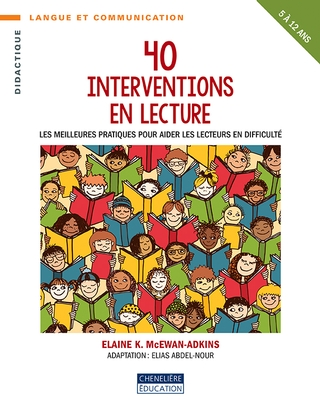 40 interventions en lecture  | 9782765052029 | Éducation
