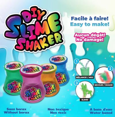DIY Slime Shaker Assorti (Pot en Forme de Erlenmeyer) | Science et technologie