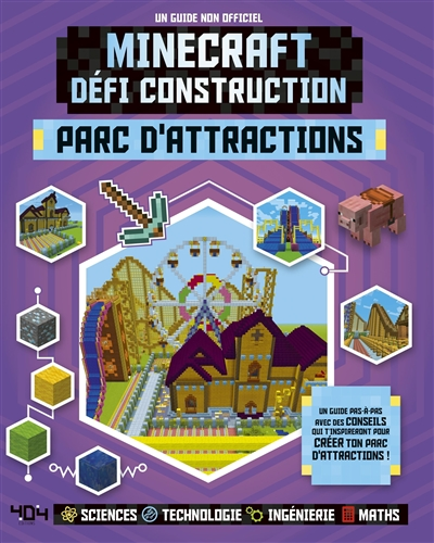 Minecraft défi construction - Parc d'attractions | 9791032402504 | Informatique