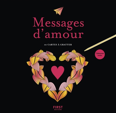 Cartes à Gratter - Messages d'amour | 9782412043271 | Cartes à gratter