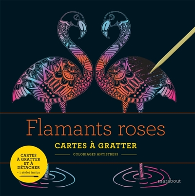 Cartes à Gratter - Flamants roses | 9782501137614 | Cartes à gratter