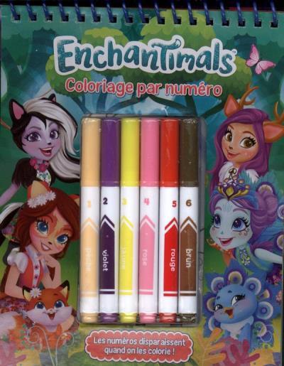 Coloriage De Enchantimals.Enchantimals Coloriage Par Numero 9782897807306 Livres Jeux Et