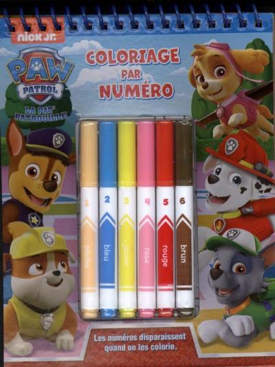 Cahier Coloriage Pat Patrouille.La Pat Patrouille Coloriage Par Numero 9782897807320
