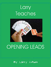 Larry Teaches Opening Leads | Livre anglophone