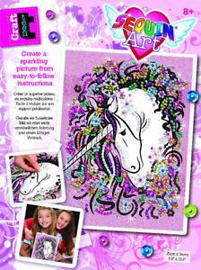 Sequin art craft teen - licorne (0419) | Bricolage divers