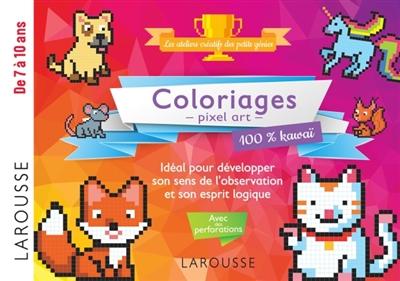 Coloriages Pixel Art 100 Kawai 9782035974914 Livres