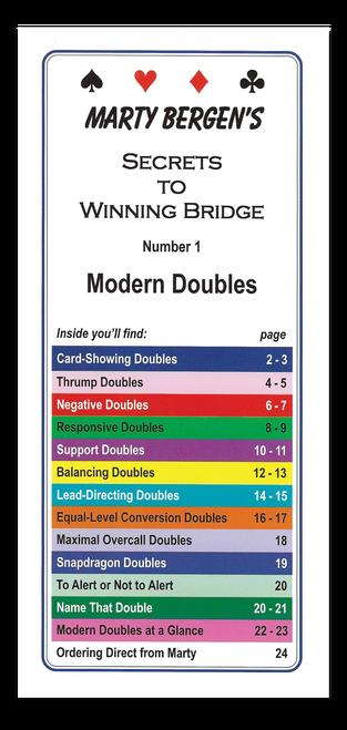 Secrets to Winning Bridge by Marty Bergen T.01 - Modern doubles | Livre anglophone