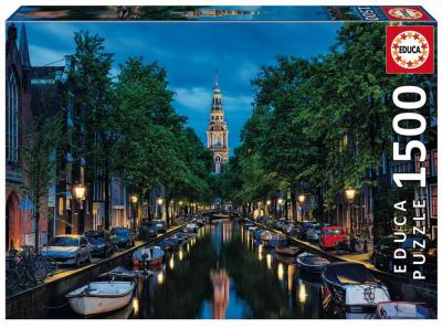 Casse-tête 1500 - World heritage : Canal à Amsterdam | Casse-têtes