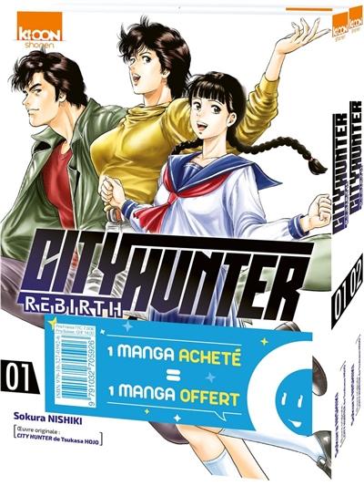 City Hunter rebirth : pack découverte : T. 01 et 02 | 9791032705926 | Manga adulte