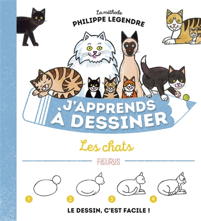 J'apprends à dessiner les chats | 9782215173243 | Documentaires