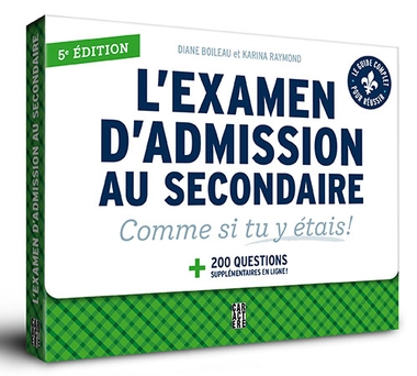 L'examen d'admission au secondaire - 5e édition | 9782897429270 | Cahier d'exercices