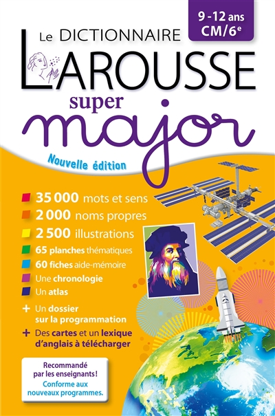 dictionnaire Larousse super major, 9-12 ans, CM-6e (Le) | 9782035985224 | Dictionnaires