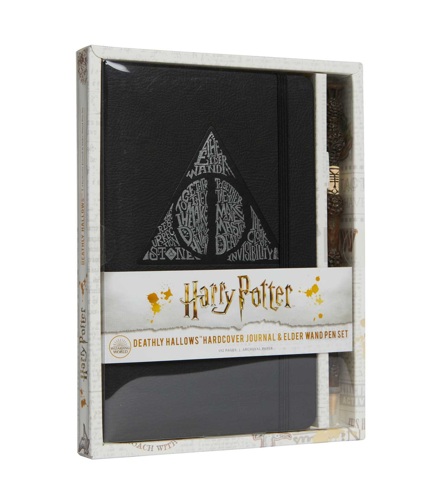 Harry Potter: Deathly Hallows Hardcover Journal and Elder Wand Pen Set | Papeterie fine