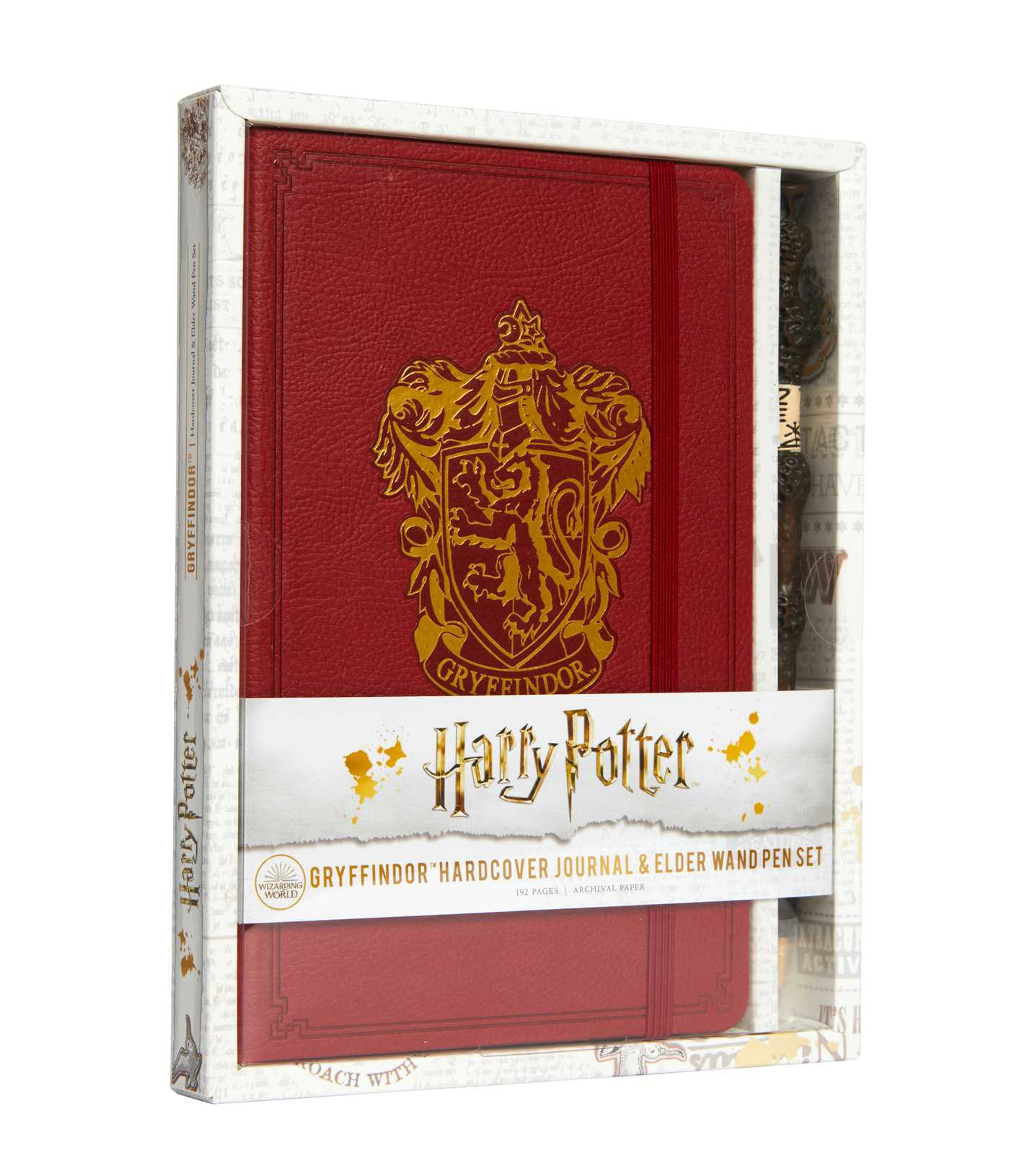 Harry Potter: Gryffindor Hardcover Journal and Elder Wand Pen Set | Papeterie fine