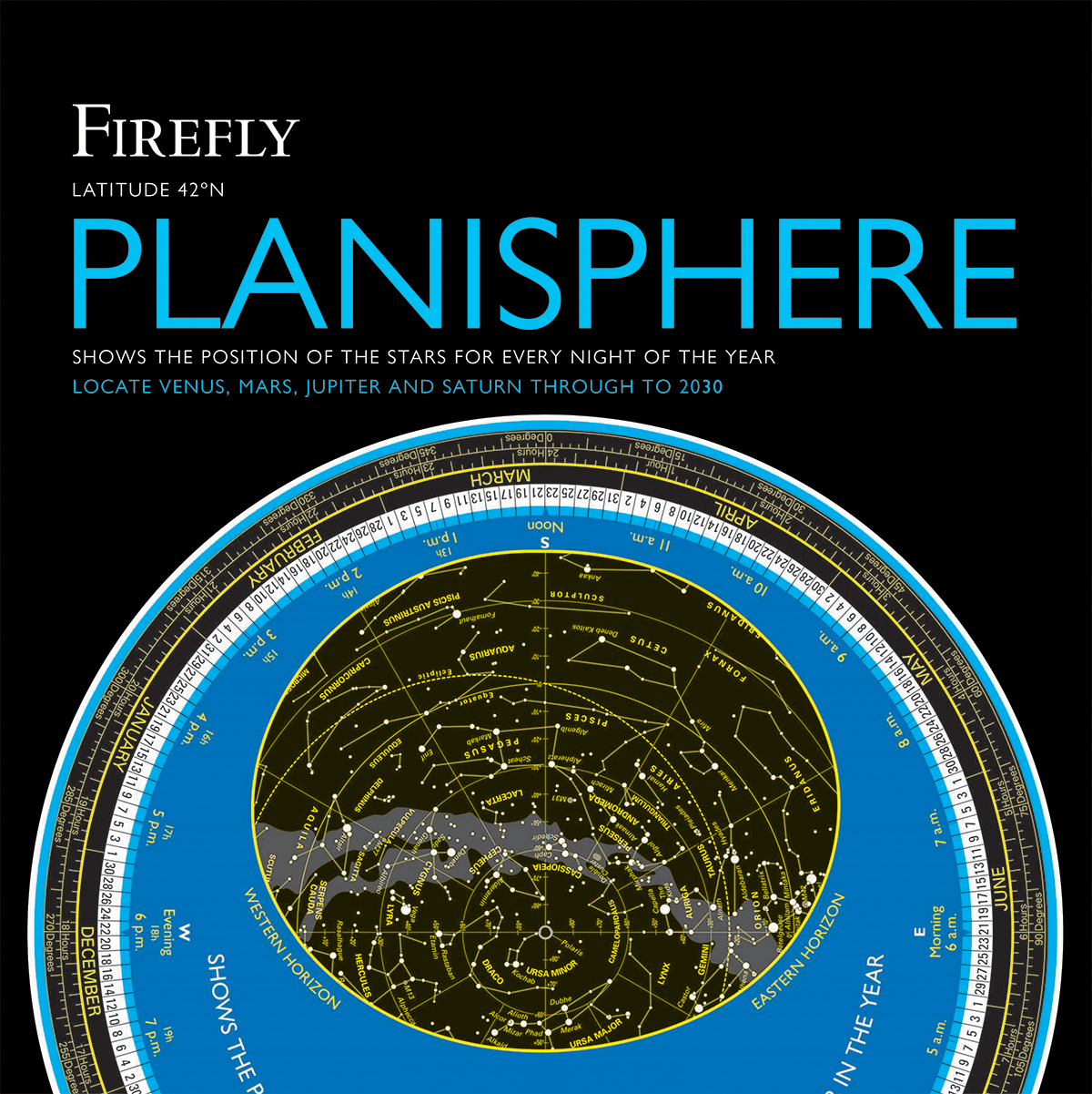 Firefly Planisphere : Latitude 42 Degrees North | Science