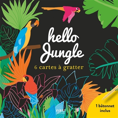 Hello jungle : 6 cartes à gratter  | 9782412056189 | Cartes à gratter