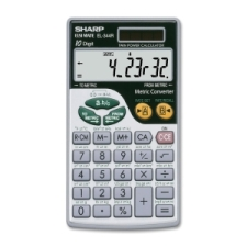 Calculatrice à conversion métrique de 10 chiffres de Sharp | Calculatrices de poche